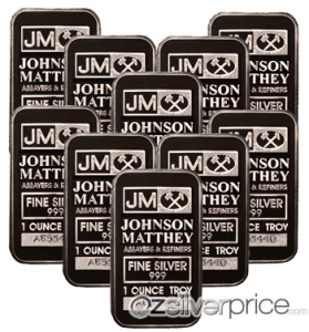 1oz Johnson Matthey Silver Bars